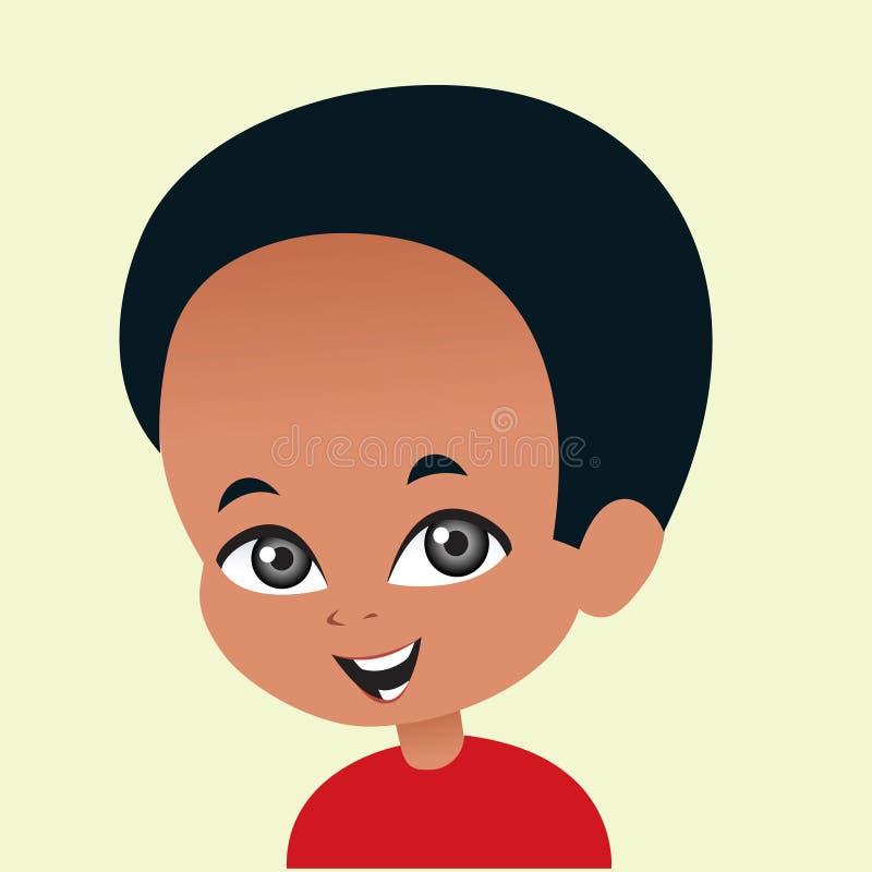 Αφροαμερικάνος πορτρέτου απεικόνισης cartonn ελεύθερη απεικόνιση δικαιώματος