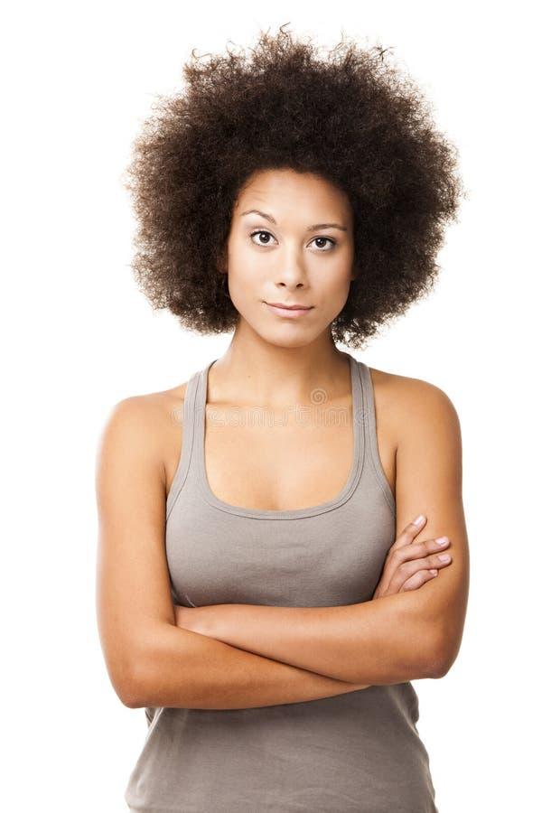 Αφροαμερικανίδα γυναίκα στοκ φωτογραφία