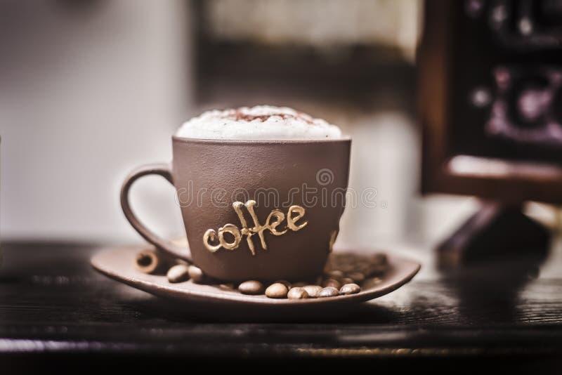 αφρός φλυτζανιών καφέ στοκ φωτογραφία με δικαίωμα ελεύθερης χρήσης