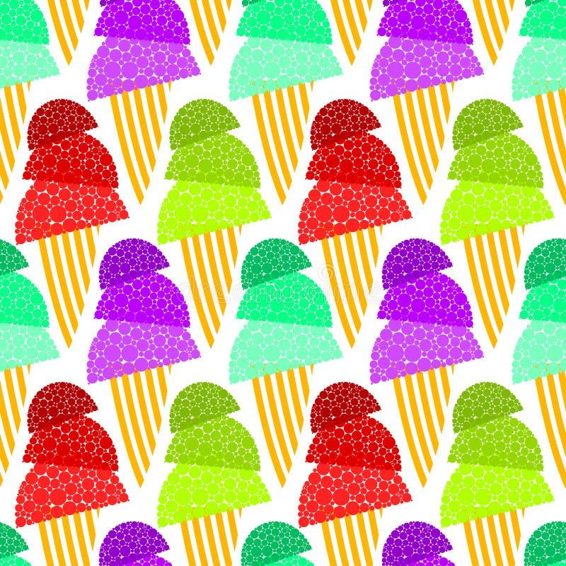 Αφρώδης άνευ ραφής ανασκόπηση κώνων παγωτού διανυσματική απεικόνιση
