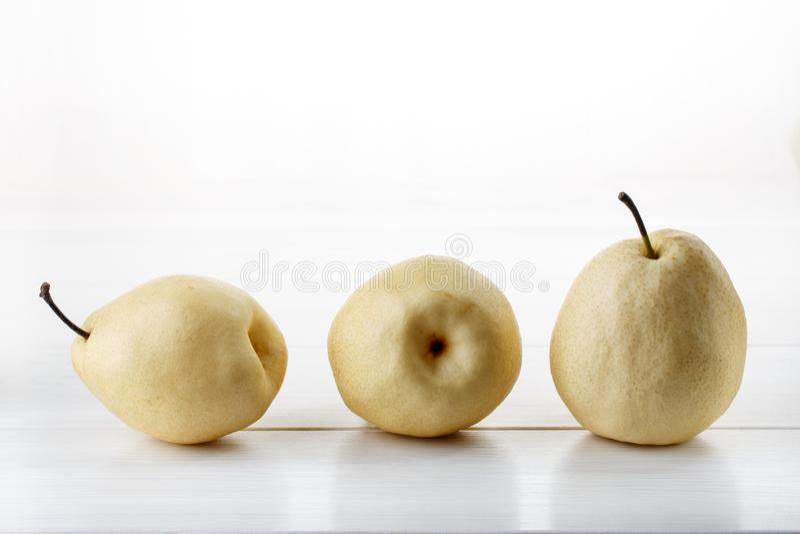 Αχλάδια κινεζικού λευκού ή ya αχλάδια στοκ εικόνα με δικαίωμα ελεύθερης χρήσης
