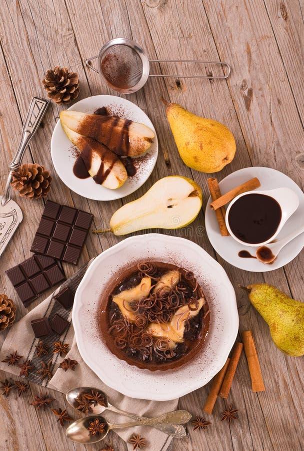 Αχλάδι και σοκολάτα ξινά στοκ φωτογραφία με δικαίωμα ελεύθερης χρήσης