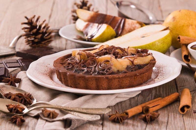 Αχλάδι και σοκολάτα ξινά στοκ εικόνα με δικαίωμα ελεύθερης χρήσης