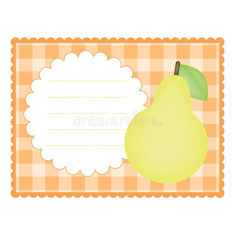 Download αχλάδι καρτών διανυσματική απεικόνιση. εικονογραφία από τρόφιμα - 22785966