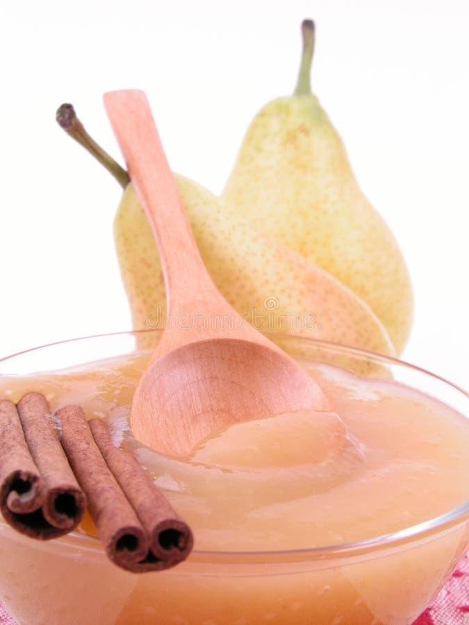 αχλάδι μαρμελάδας στοκ εικόνα