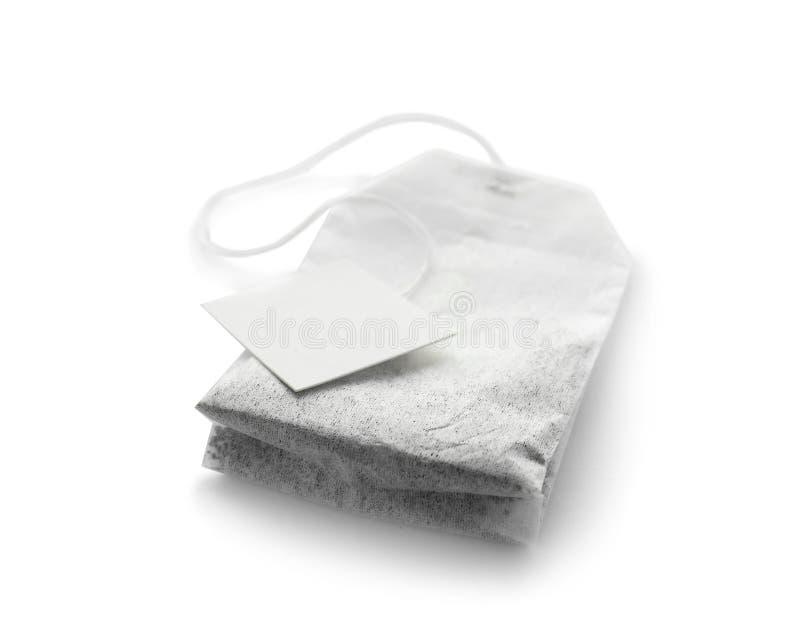 Αχρησιμοποίητη τσάντα τσαγιού με την ετικέττα στοκ φωτογραφία με δικαίωμα ελεύθερης χρήσης