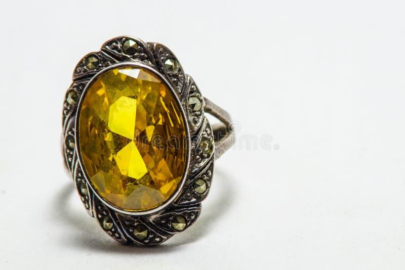 δαχτυλίδι topaz στοκ εικόνες με δικαίωμα ελεύθερης χρήσης