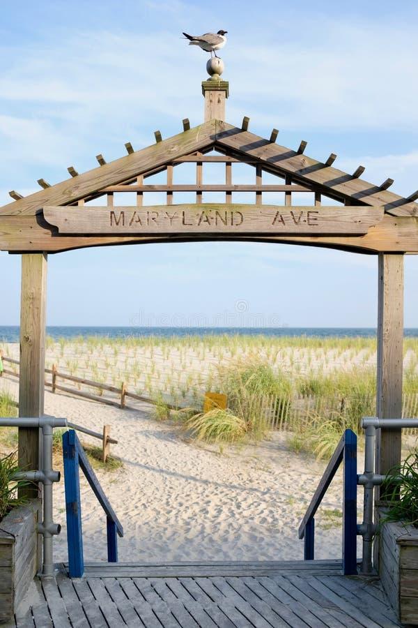 Αψίδα εισόδων στην παραλία της Ατλάντικ Σίτυ στοκ εικόνες με δικαίωμα ελεύθερης χρήσης