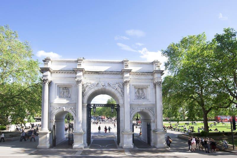 αψίδα Λονδίνο μαρμάρινο UK στοκ φωτογραφία με δικαίωμα ελεύθερης χρήσης