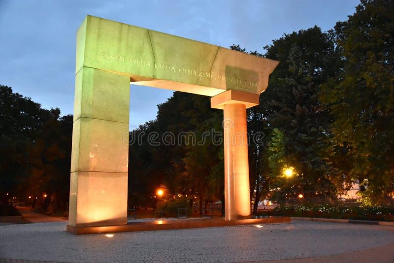 Αψίδα μνημείων σε Klaipeda Λιθουανία στοκ φωτογραφίες με δικαίωμα ελεύθερης χρήσης