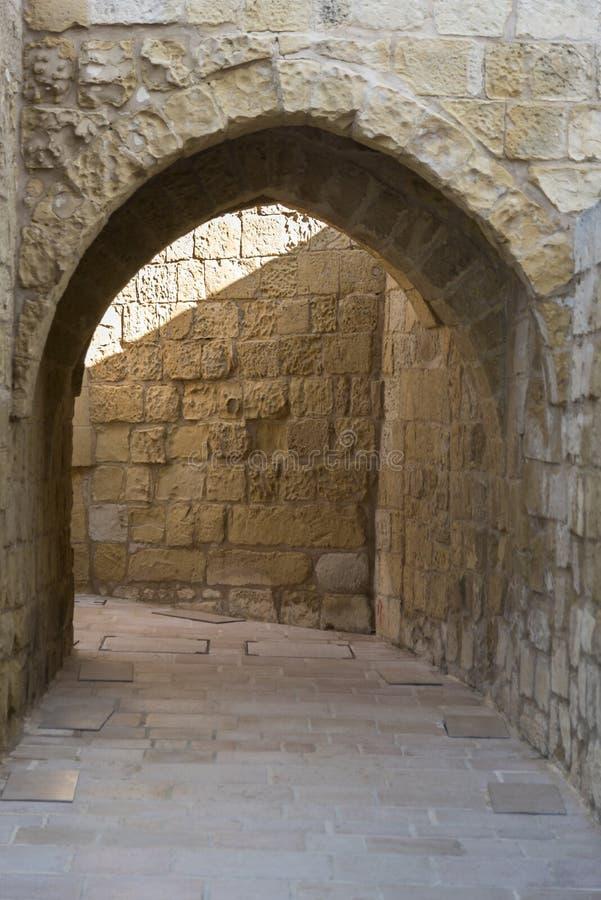 Αψίδα στην ακρόπολη Βικτώριας Gozo Μάλτα στοκ εικόνες