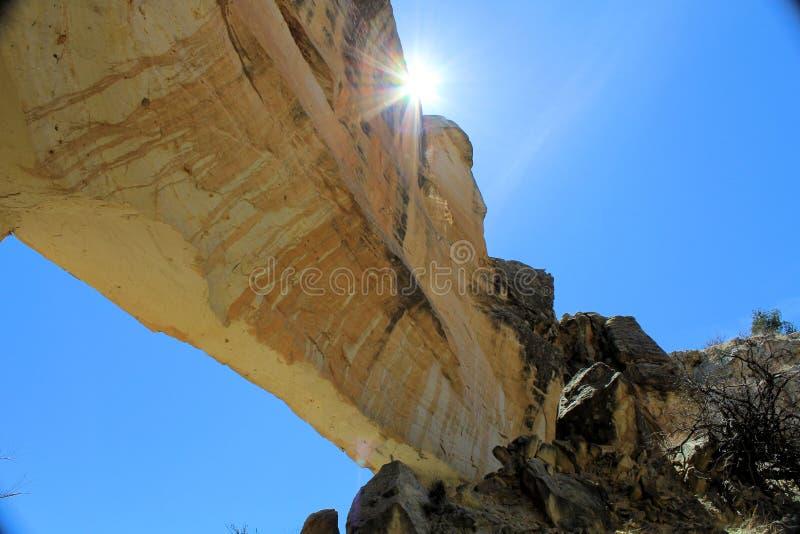 Αψίδα στο φαράγγι Tapia στοκ εικόνα με δικαίωμα ελεύθερης χρήσης