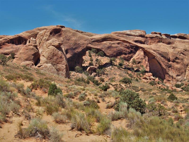 Αψίδα τοπίων στο εθνικό πάρκο αψίδων στη Γιούτα στοκ εικόνες