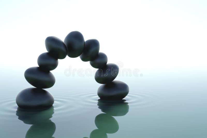 αψίδα zen διανυσματική απεικόνιση