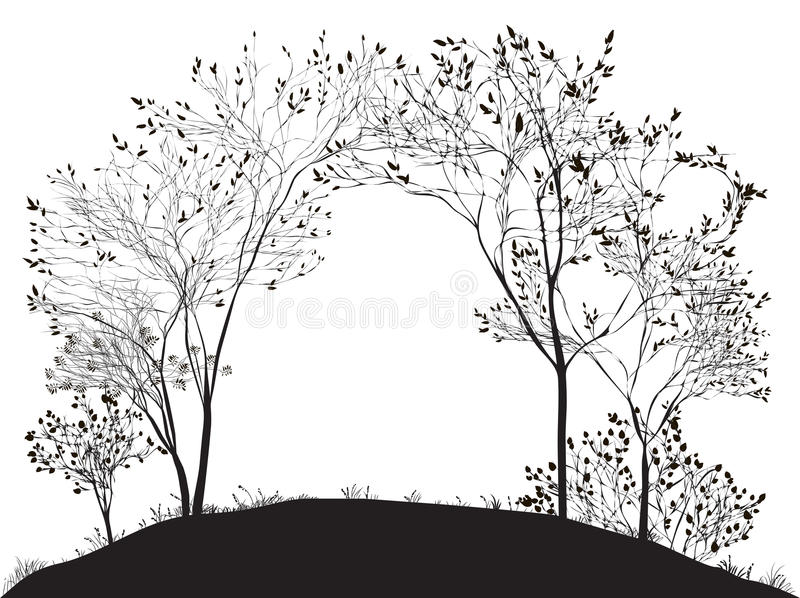 Αψίδα του δέντρου απεικόνιση αποθεμάτων