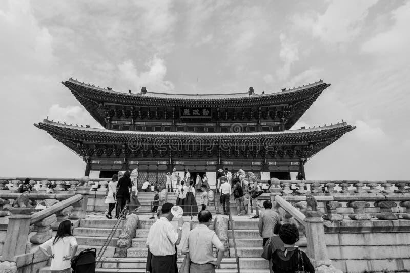 λαϊκό εθνικό παλάτι μουσείων της Κορέας gyeongbokgung στοκ φωτογραφία με δικαίωμα ελεύθερης χρήσης