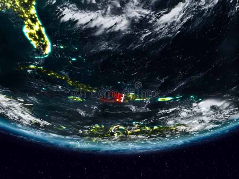 Αϊτή κατά τη διάρκεια της νύχτας στοκ εικόνα με δικαίωμα ελεύθερης χρήσης