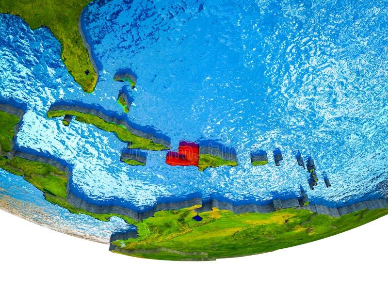 Αϊτή στην τρισδιάστατη γη στοκ φωτογραφίες με δικαίωμα ελεύθερης χρήσης