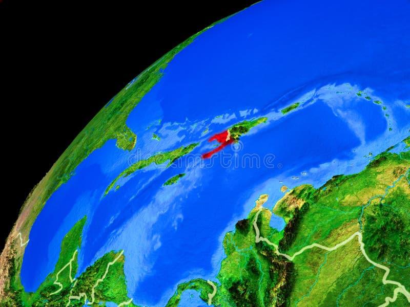 Αϊτή στη γη από το διάστημα στοκ φωτογραφίες