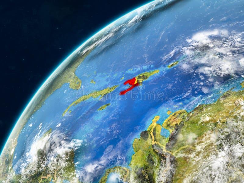 Αϊτή στη γη με τα σύνορα στοκ εικόνες