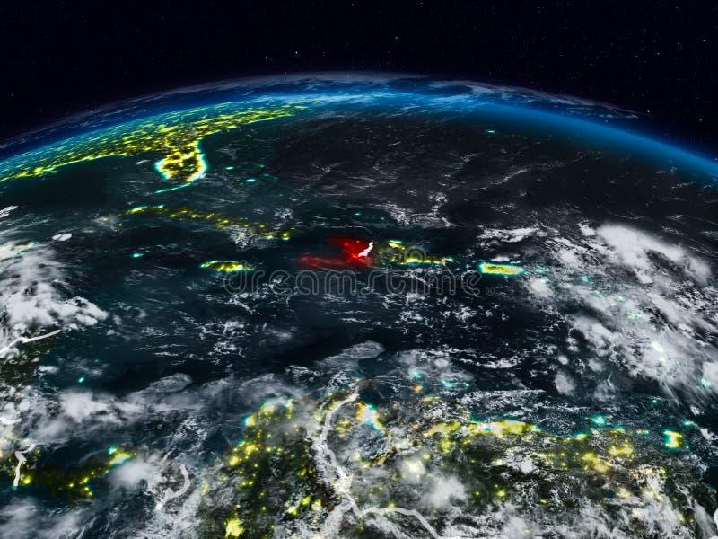 Αϊτή τη νύχτα στοκ φωτογραφίες