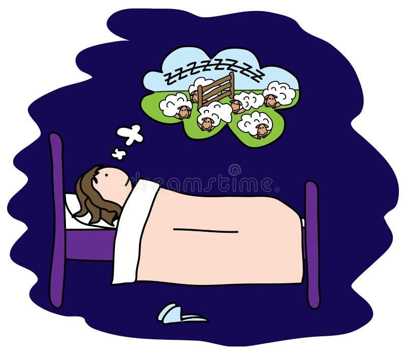 αϋπνία ελεύθερη απεικόνιση δικαιώματος