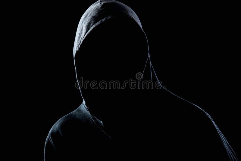 Αόρατο άτομο στο σκοτάδι νύχτας στοκ εικόνες με δικαίωμα ελεύθερης χρήσης