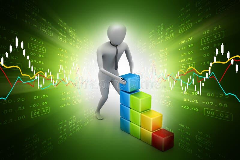 Αύξηση έννοιας της επιχείρησης απεικόνιση αποθεμάτων