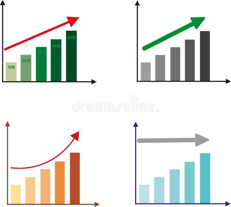 Αύξηση επάνω δυναμική ανάπτυξη σχέδιο στοκ εικόνες