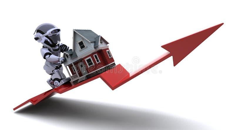 αύξηση ιδιοκτησίας τιμών απεικόνιση αποθεμάτων