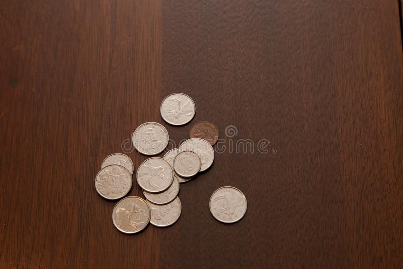 Αύξηση και αλλαγή χρημάτων στοκ εικόνα με δικαίωμα ελεύθερης χρήσης