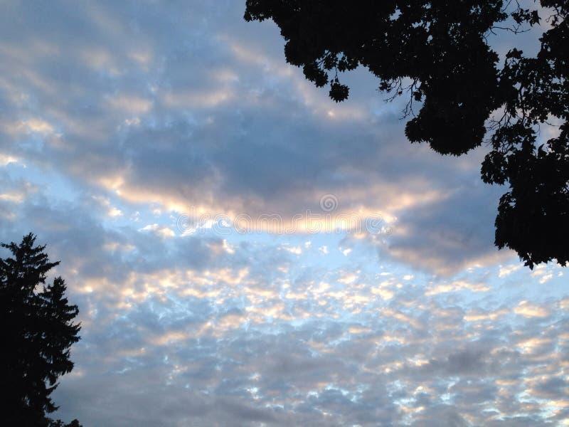 Αύξηση σύννεφων καραμελών βαμβακιού στοκ φωτογραφίες με δικαίωμα ελεύθερης χρήσης