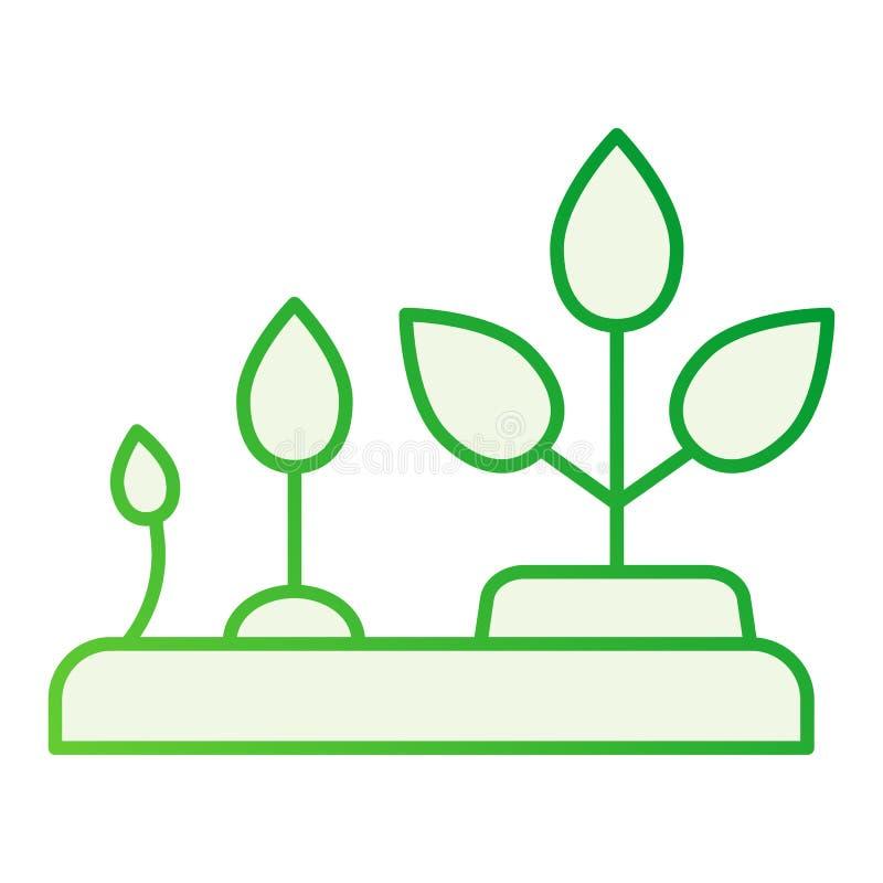 Αύξηση του επίπεδου εικονιδίου εγκαταστάσεων Γκρίζα εικονίδια φύσης  ελεύθερη απεικόνιση δικαιώματος