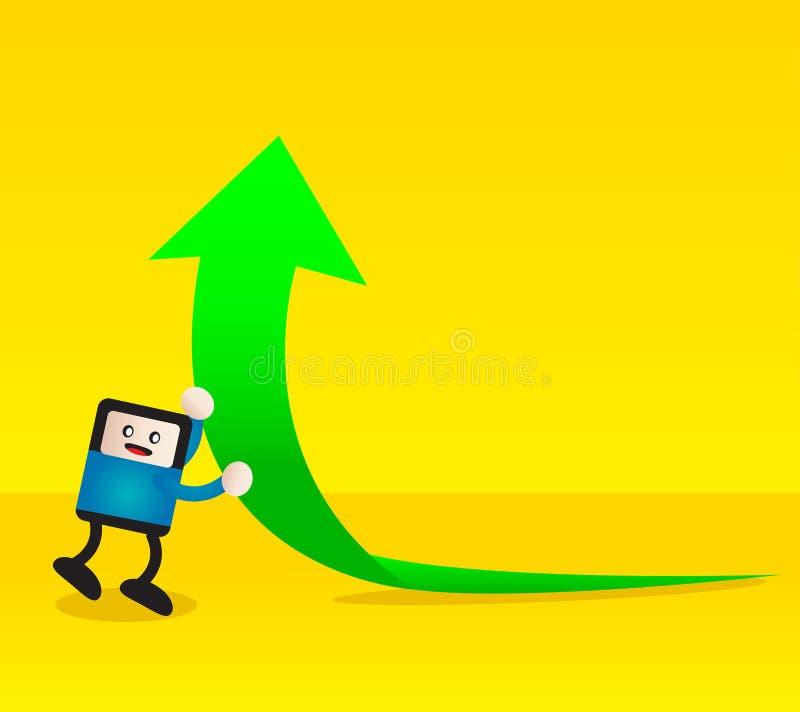 Download Αύξηση διανυσματική απεικόνιση. εικονογραφία από μάρκετινγκ - 22780141