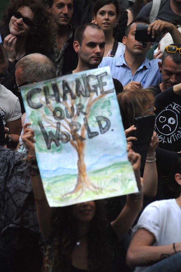 Αλλάξτε τον κόσμο, Λονδίνο το 2016 στοκ εικόνα