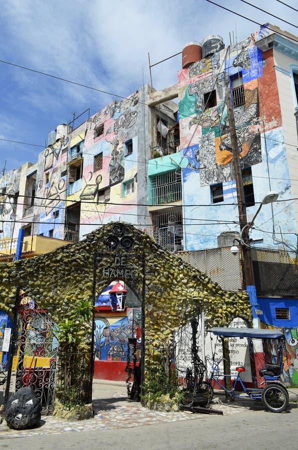 Αλέα Hamel στην Αβάνα (Κούβα) στοκ φωτογραφία με δικαίωμα ελεύθερης χρήσης