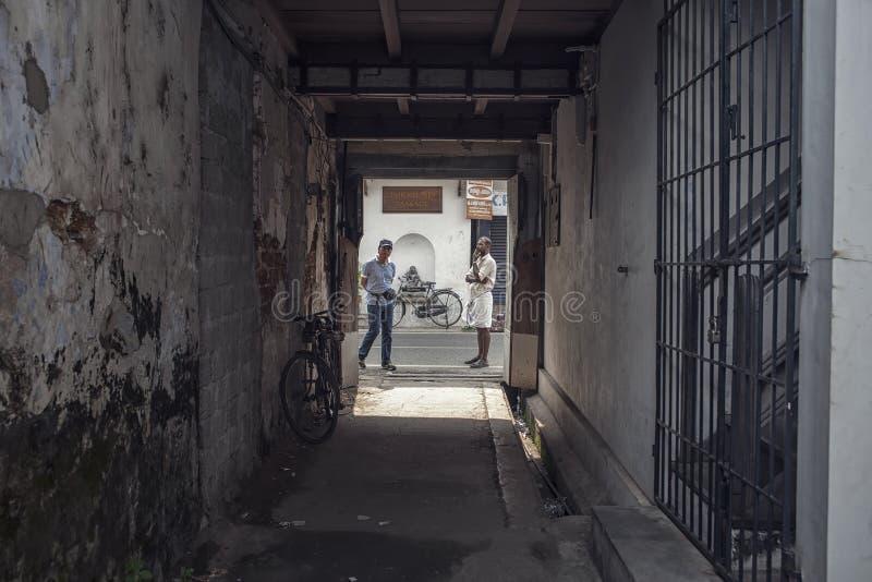Αλέες του mattanchery Κεράλα στοκ εικόνα
