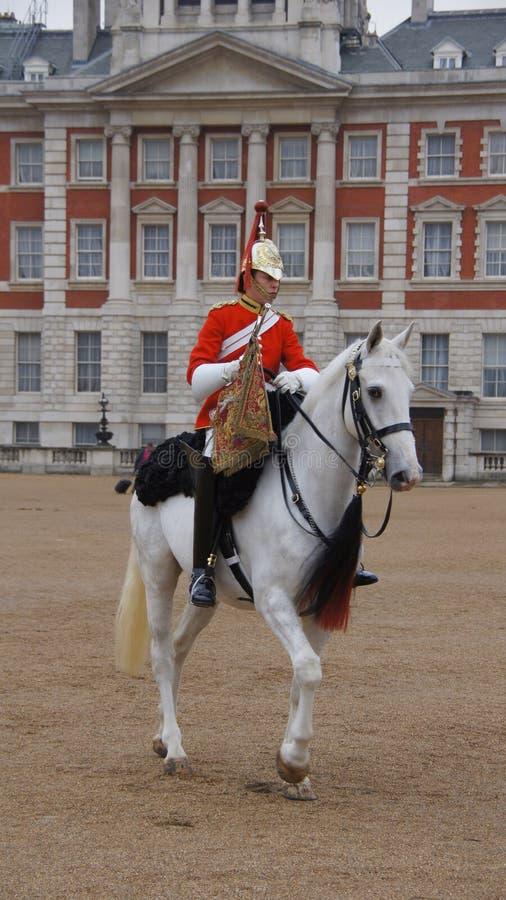 Αλλαγή των βασιλικών φρουρών αλόγων στο Λονδίνο στοκ εικόνα με δικαίωμα ελεύθερης χρήσης