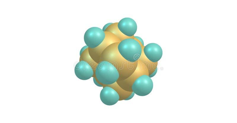 Αδαμαντινών πρότυπο που απομονώνεται μοριακό στο λευκό διανυσματική απεικόνιση