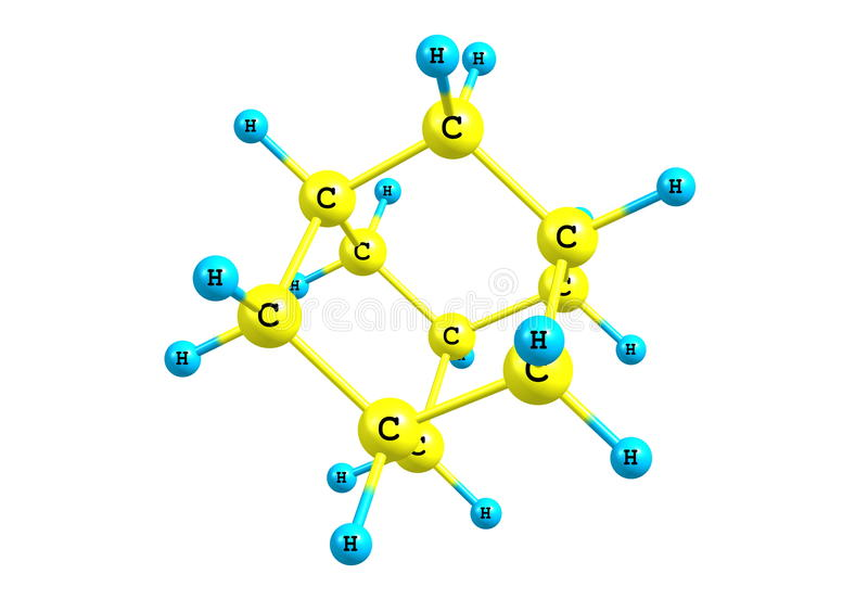 Αδαμαντινών πρότυπο που απομονώνεται μοριακό στο λευκό ελεύθερη απεικόνιση δικαιώματος
