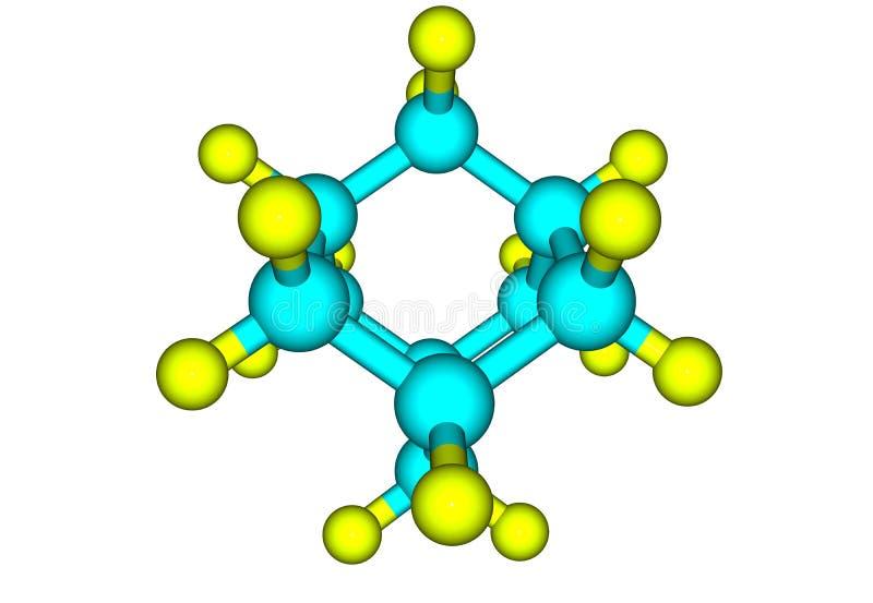 Αδαμαντινών πρότυπο που απομονώνεται μοριακό στο λευκό απεικόνιση αποθεμάτων