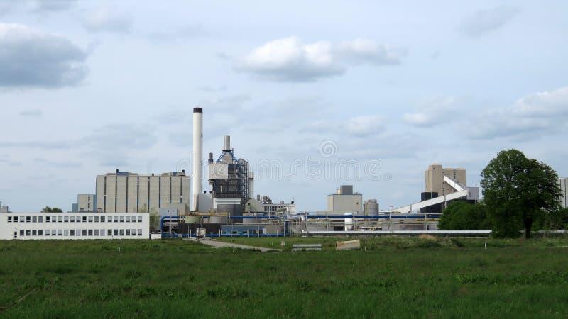 Αλατισμένες εγκαταστάσεις Νόμπελ Akzo σε Hengelo στοκ εικόνα