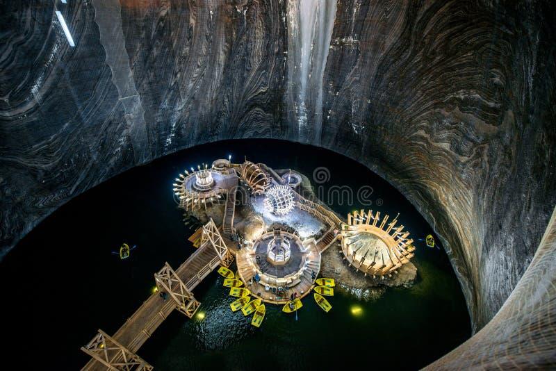 Αλατισμένο ορυχείο σε Turda, Ρουμανία στοκ φωτογραφία