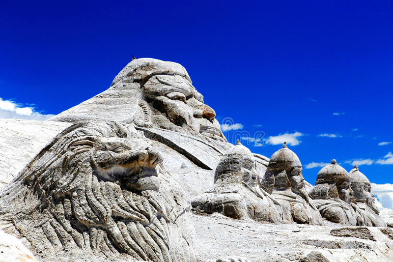Αλατισμένο τοπίο λιμνών Chaka Qinghai στοκ φωτογραφία