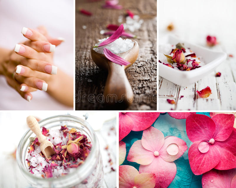 αλατισμένο wellness σαπουνιών δεντρολιβάνου φυσικών προϊόντων κολάζ κανέλας προσοχής σωμάτων λουτρών ράβδων στοκ εικόνα