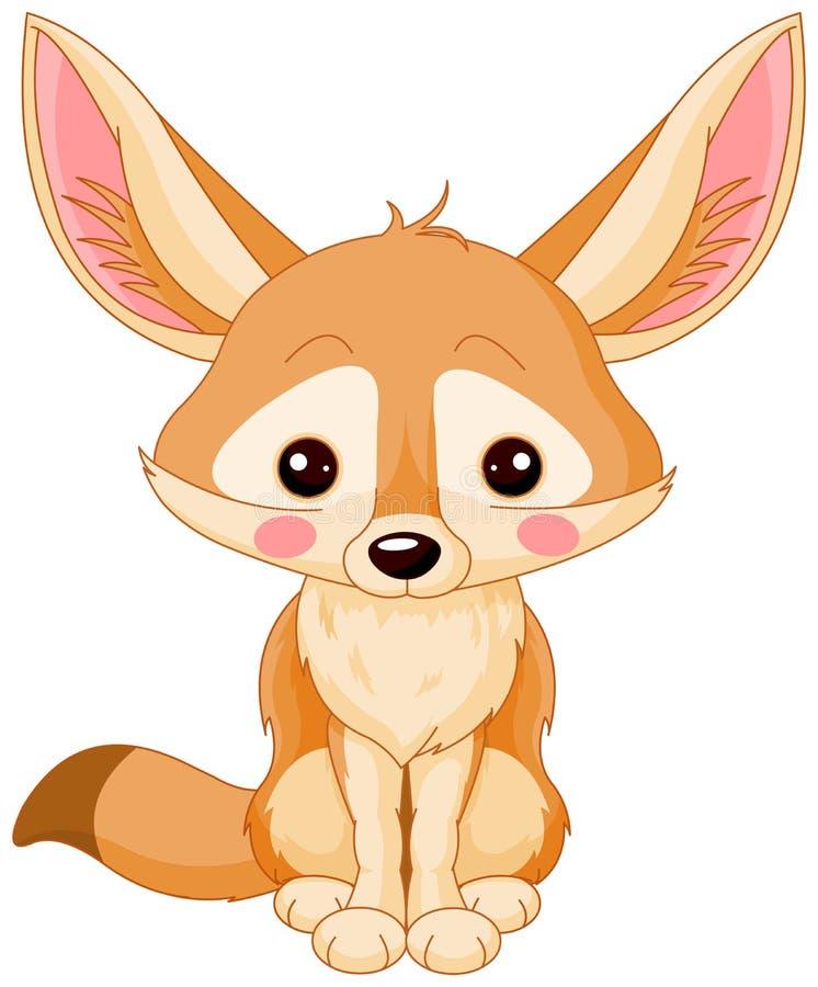 Αλεπού Fennec διανυσματική απεικόνιση