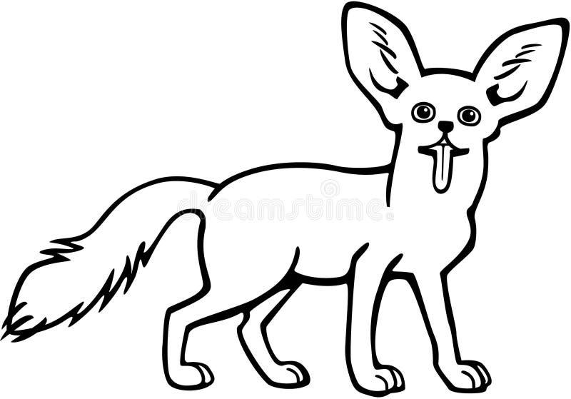 Αλεπού Fennec ελεύθερη απεικόνιση δικαιώματος