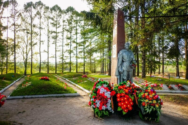 Αδελφικό νεκροταφείο Tikhvin των σοβιετικών στρατιωτών στοκ φωτογραφία με δικαίωμα ελεύθερης χρήσης