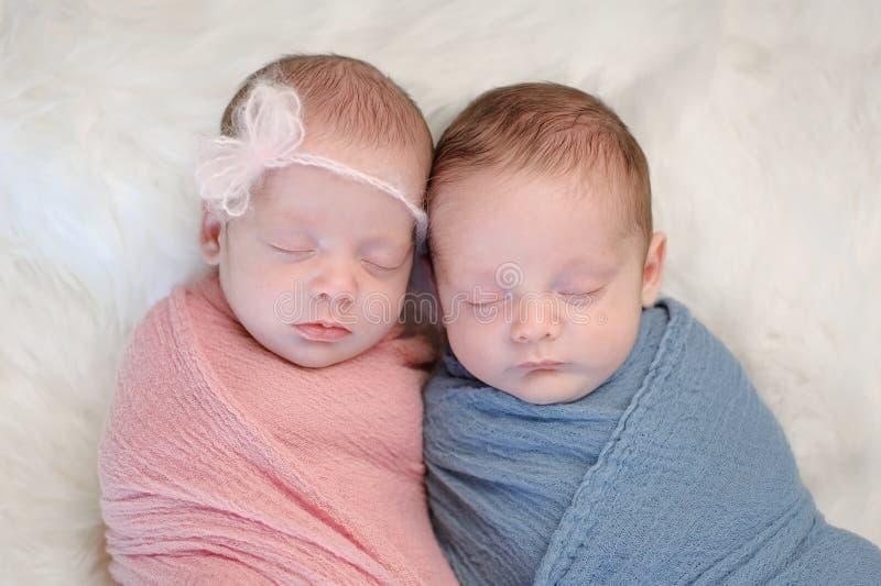 Αδελφός και αδελφή μωρών δίδυμων ετεροζυγωτών στοκ φωτογραφίες με δικαίωμα ελεύθερης χρήσης