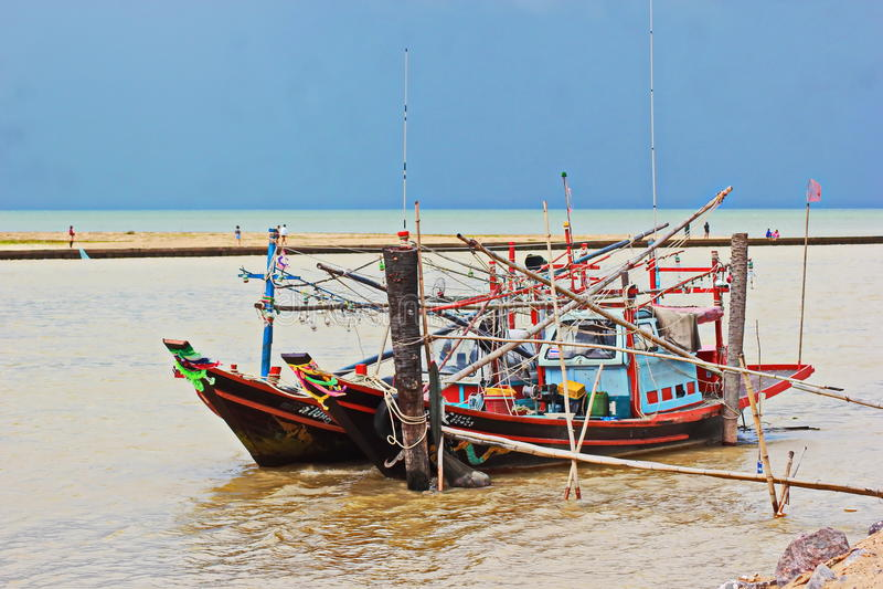 Αλιεία καλαμαριών στοκ εικόνες με δικαίωμα ελεύθερης χρήσης